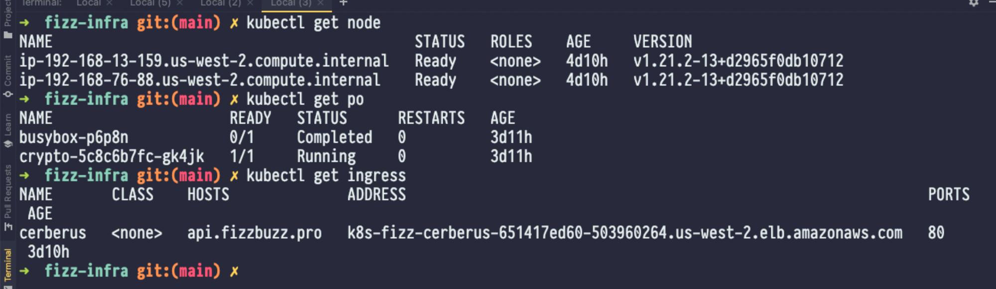 FizzBuzz Pro Kubernetes settings.